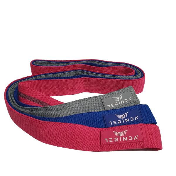 Komplet dolgih elastik za vadbo Terinda